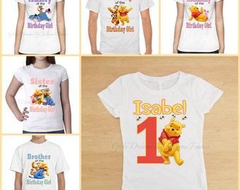 Pooh family shirts, Winnie the Pooh Shirt, Family Shirt,Pooh Birthday Shirt,Winnie the Pooh Birthday,Winnie the Pooh,Personalized Pooh Shirt