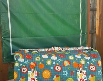Nap Mat Cover - Kinder Mat Cover - School Nap Mat - Alphabet Nap Mat - Preschool Nap Mat