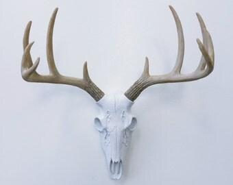 ANY COLOR Realistic Deer Skull Wall Mount / Fake Deer Antlers / Faux Taxidermy / Boho // Tribal Nursery // Animal Skull // Buck // Stag Head