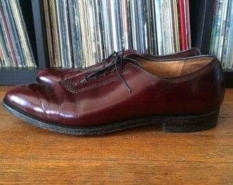 Vintage Mens HAWTHORNE CLASSICS Oxblood Burgundy Leather Oxford Saddle Dress SHOES Size 13 D/B Beautiful!
