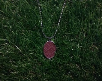 Football Necklace- Classic- Metal Back