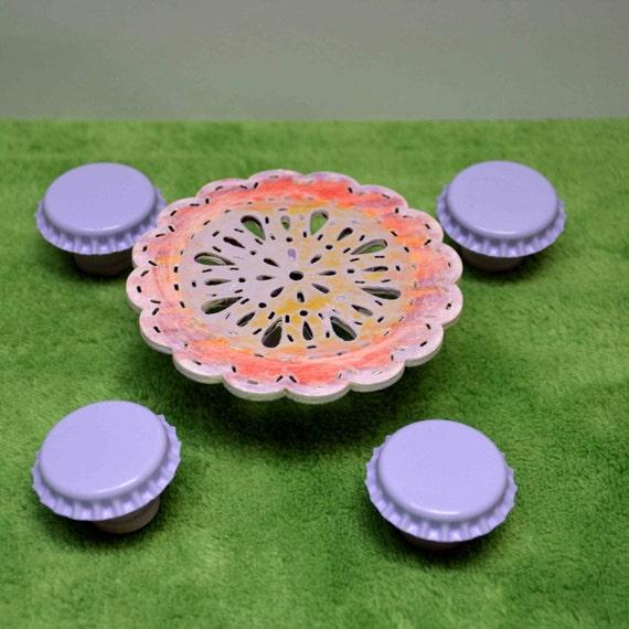 Miniature Patio Table Set Fairy Garden Patio Set Dollhouse