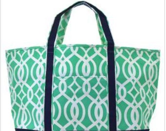 """24"""" Tote Bag, Teacher's Tote, Office Tote, Travel Tote, Monogrammed"""