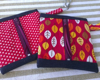 Dog Leash Bag - Poop Bag Holder & Dispenser - Made To Order in your fabric choice
