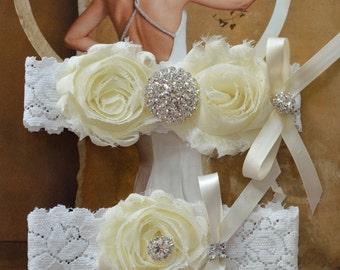Crystal Wedding Garter, Garter, Wedding Garter Set, Blue Garter, Bridal Garter Set, Lace Garter, Blue Wedding Garter, Garter Set