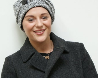 Chemo hat for cancer patients - soft, warm knit hat fully lined with viscose jersey available in all sizes