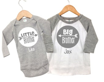 Personalized Big Brother little Brother Shirts, Big Brother Little Brother Outfits, Big Brother Announcement Shirt Little Brother Shirt