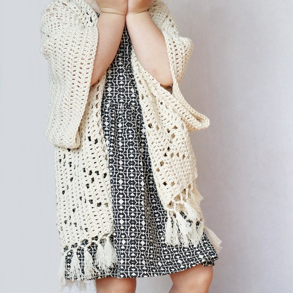 Free Crochet Pattern For Kimono : Crochet Pattern Kenzie Kimono by Lakeside Loops by ...