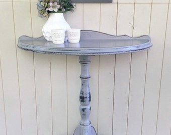 SOLD - Round half table in Paris Grey