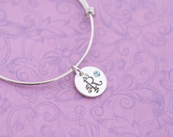 SALE - Mother's Bracelet - Initial Jewelry - Hand Stamped Jewelry - Engraved Jewelry - Birthstone Jewelry - Kid's Name Jewelry - New Mom