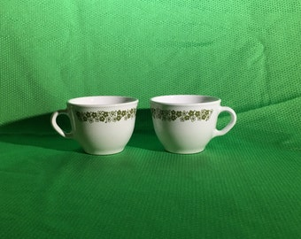 Corning Crazy Daisy Tiny Mugs | Set of Two | 4 fl oz