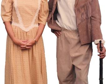 Suede Leather Daniel Boone, Mountain Man costume
