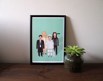 Freaks and Geeks A4 print - Freaks and Geeks illustration - Halloween - A4 art print- wall art - home decor - TV poster