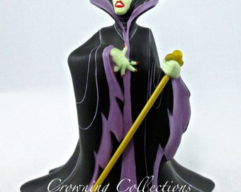 Disney Maleficent Villain Figurine Sleeping Beauty Ceramic Porcelain Matte Finish Vintage China Store