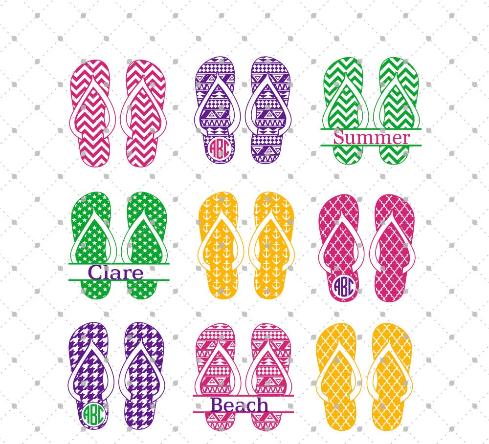 Summer Flip Flops Svg Cut Files Flip Flops Svg Cut Files