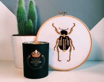 Ancistrosoma Klugii Beetle Embroidered Hoop
