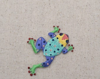 Tree Frog - Multicolor - Iron on Applique - Embroidered Patch - 692650A