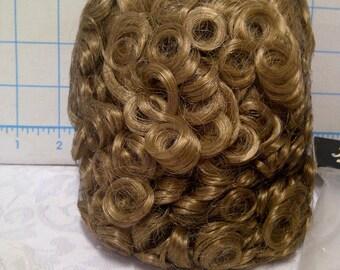 Dollspart Honey Blonde Curly Wig for Doll Making. Cap Diameter 14. 100% Doll Grade Kanekalon Hair
