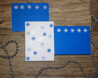 Snowflake Greeting Cards Set of 9
