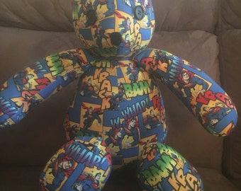 Handmade Superman Bear. Free Shipping! Code:freeship