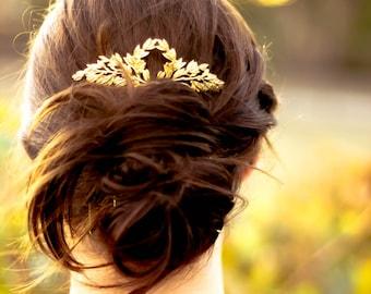 Laurel Bridal Hair Accessory Rustic Wedding Hair Tiara Laurel Hair Comb Bridal Leaf Hair Piece Wedding Hair Pin Woodland Tiara Bridal Leaf