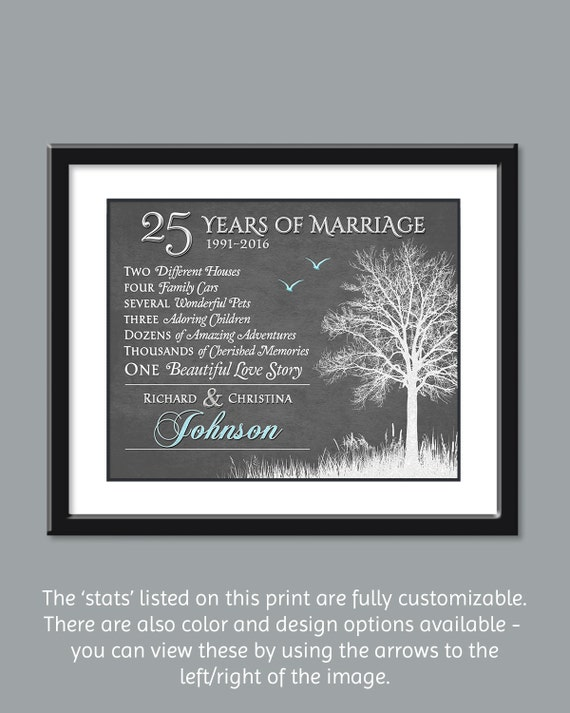 Silver Wedding Anniversary Gift Ideas Parents : Anniversary Gift For Parents - Silver Anniversary Gift - 25th Wedding ...