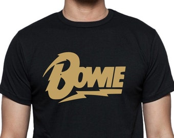 David Bowie Logo T-Shirt - Retro Style, Glam Rock, Icon, Dance, - All Sizes & Colours