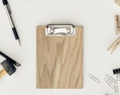 Blank Wood Clipboard, Mini White Oak Clipboard, Office Clipboard, Notepad Clipboard