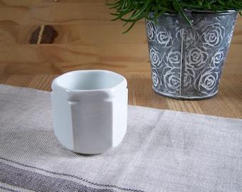 Rare Yogurt pot YALACTA vintage in white porcelain | Availability : 3 pots | Kitchen Made in France 1950