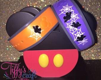 Bat Mickeys & Spider Webs Magic Band Decals