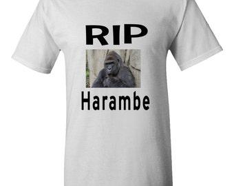 Rip Harambe T-shirt Gorilla killed at zoo Justice for Harambe