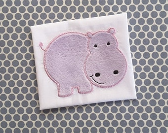 Baby Applique Machine Embroidery Design Hippo