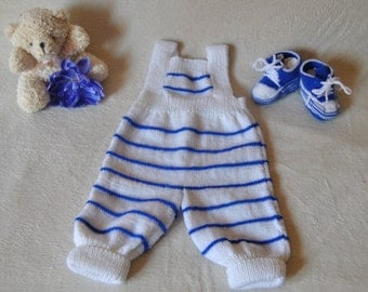 Dungarees and sneakers for baby