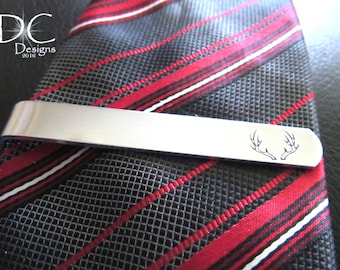 Personalized Tie Clip for Groom from Bride Gifts, Hunting Wedding Gifts, Hunting Groomsman Gifts, Hunting Anniversary Gift for Men