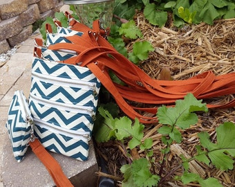 100% Organic chevron cross body bag