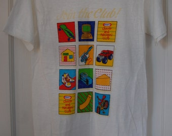 Vintage Rare KRAFT Cheese and Macaroni Club white t-shirt, Size Small, Made in USA