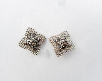 Marcasite beads, marcasite sliders, marcasite stars, marcasite spacers, marcasite connectors, marcasite bead, marcasite jewelry, marcasites