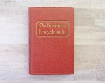 Business Encyclopedia - Vintage Book - 1939 - Doubleday - Old Books - Antique Encyclopedia - Businessman - Old Encyclopedia - Business Gift