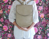 leather backpack for women, leather bag, leather backpack, neutral color backpack