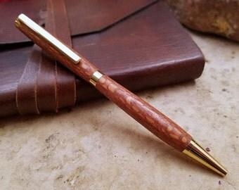 Wooden Pen - Wood Pen - Lacewood Pen - Wooden Gift - Wood Gift - Medium Ballpoint Pen - Writing Pen - Wooden Gifts For Men - Handmade Pen