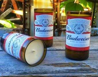 Budweiser Beer Decor Soy Candles - Set of Three