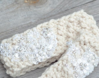 Mother Daughter Matching Headband - Knitted Headband - Knit Ear Warmer-Mommy and me matching headband,Mom and baby headbands,knit headband