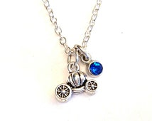 Cinderella Carriage Necklace, Cinderella Charm, Cinderella Pendant, Cinderella Jewelry, Fairy Tale Necklace, Cinderella Carriage Charm