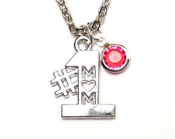 Number One Mom Necklace, Mom Jewelry, Mom Charm, Mom Pendant, Mom Necklace, Special Mom, Mom Gift, Gifts for Mom,Mother Necklace,Mother Gift