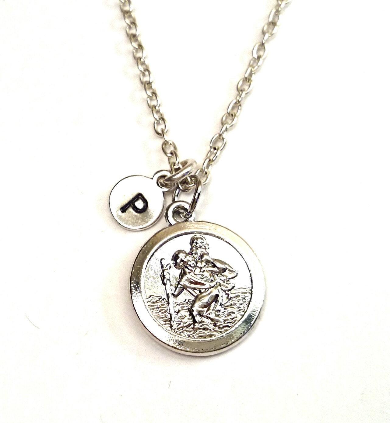 st christopher necklace silver by gustavsdachshundshop