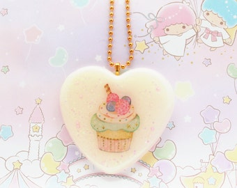 Cupcake Sweet Lolita Necklace - cupcake necklace, resin necklace