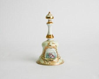 Meissen Porcelain Table Bell -  Blue Crossed Swords Mark