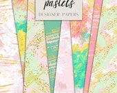 Seamless Digital Papers | Artistic Pastel Brush Strokes pattern designs | Abstract graphics | Printable for Website design, Scrap booking