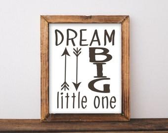 "Nursery Decor ""Dream Big Little One"" Nursery Printable woodland nursery wall art nursery art nursery prints baby boy nursery boy nursery art"