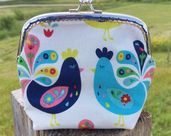 Roosters Coin Purse Large
